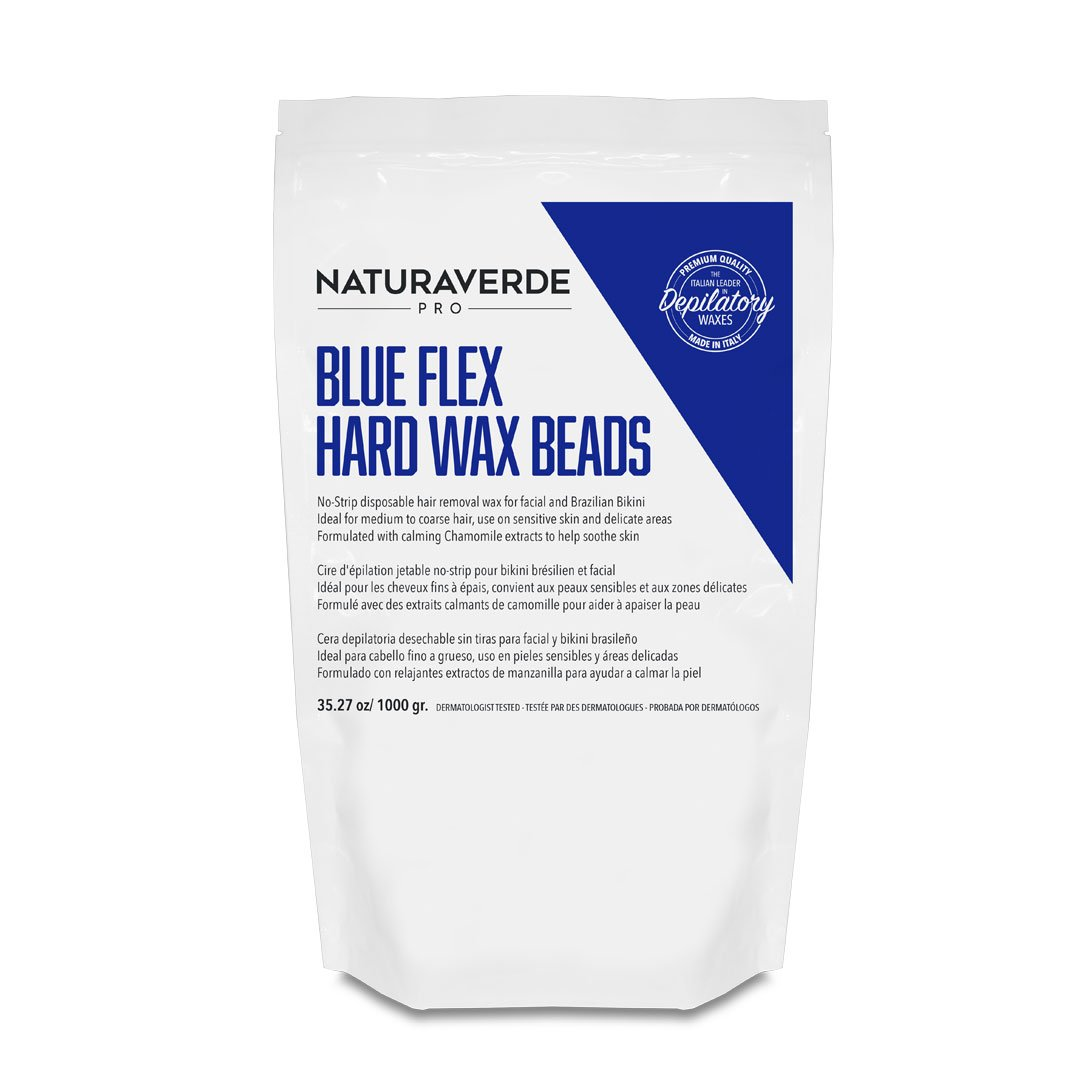 Blue Flex Hard Wax Beads