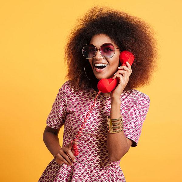 Retro woman on telephone